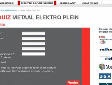 MetaalectroPlein Webquiz – Enquete tool