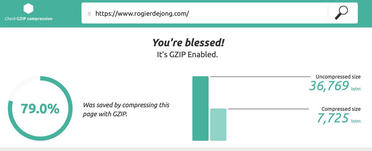 Check gzip compressie rogierdejong.com