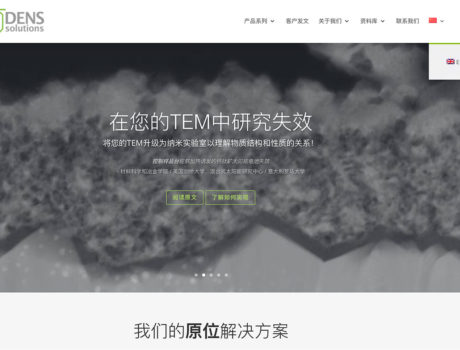 Website vertalen in het Chinees – DENSsolutions
