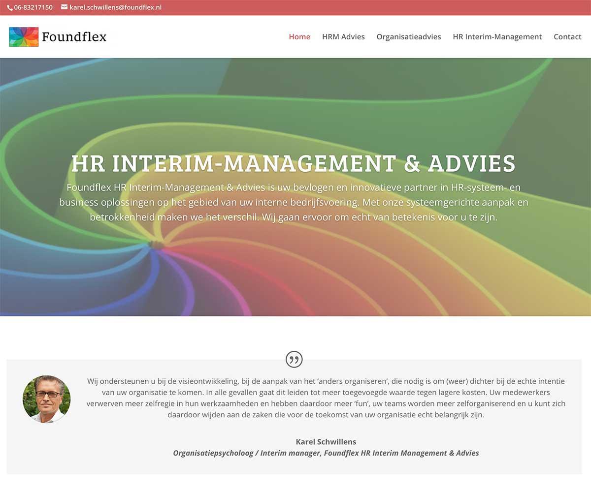 De homepage is persoonlijk gemaakt door te beginnen met een quote.