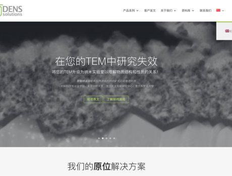 Website vertalen in het Chinees – DENSsolutions